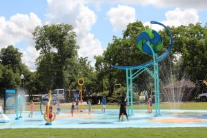 Splash Pad at Fireman's Park